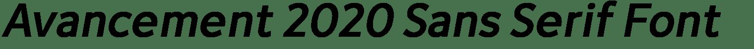 Avancement 2020 Sans Serif Font