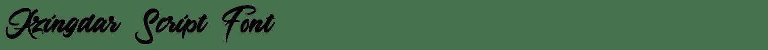 Azingdar Script Font