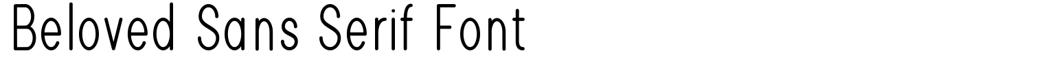 Beloved Sans Serif Font