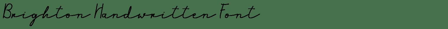 Brighton Handwritten Font
