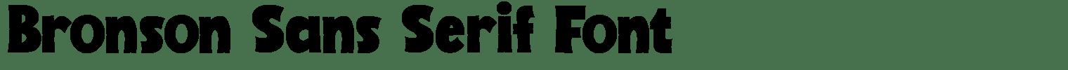 Bronson Sans Serif Font