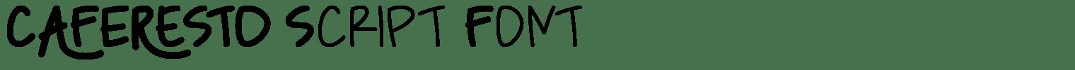 Caferesto Script Font