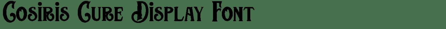 Cosiris Cure Display Font