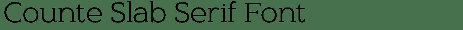 Counte Slab Serif Font
