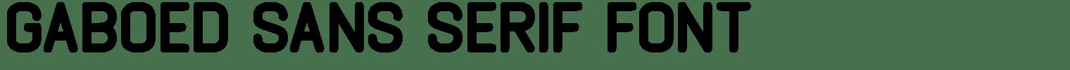 Gaboed Sans Serif Font