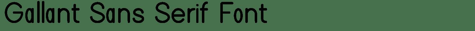 Gallant Sans Serif Font