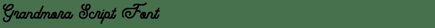 Grandmora Script Font