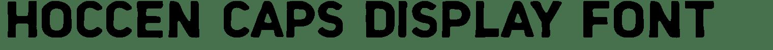 Hoccen Caps Display Font