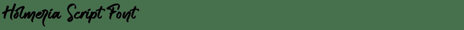 Holmeria Script Font