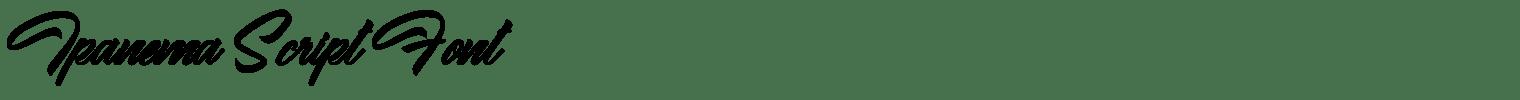 Ipanema Script Font