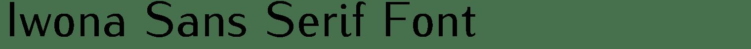 Iwona Sans Serif Font