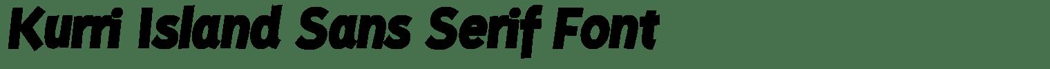 Kurri Island Sans Serif Font