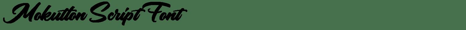 Mokutton Script Font