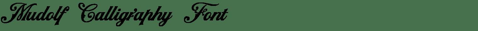 Mudolf Calligraphy Font