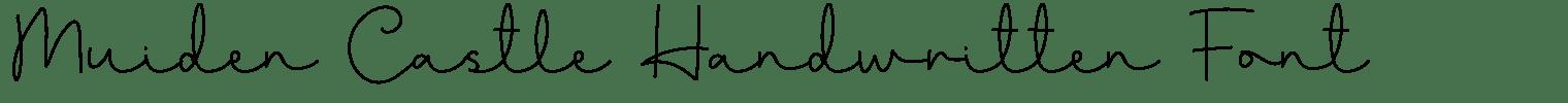 Muiden Castle Handwritten Font