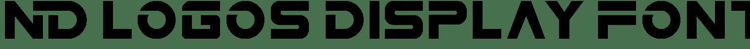 ND Logos Display Font