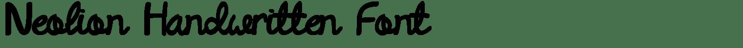 Neolion Handwritten Font