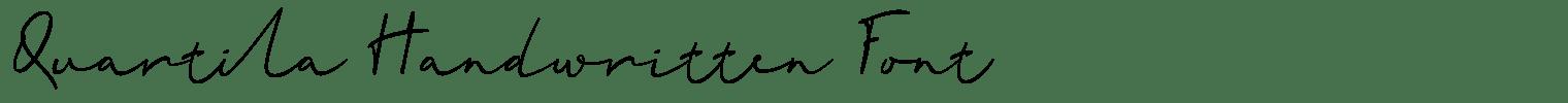 Quartila Handwritten Font