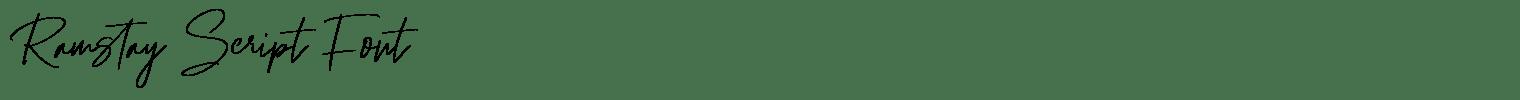 Ramstay Script Font