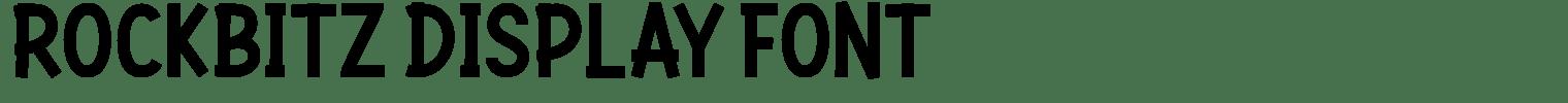 Rockbitz Display Font