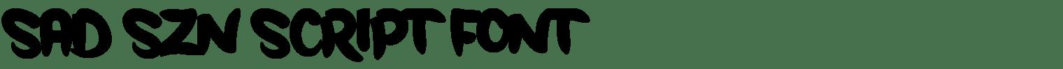Sad Szn Script Font