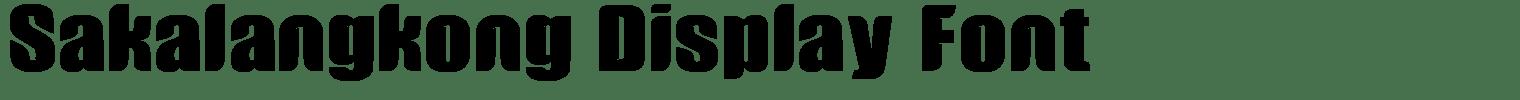 Sakalangkong Display Font