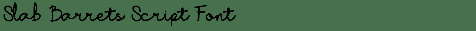 Slab Barrets Script Font