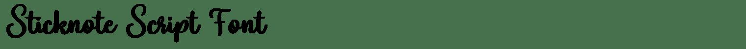 Sticknote Script Font