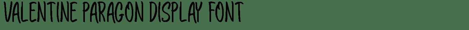 Valentine Paragon Display Font