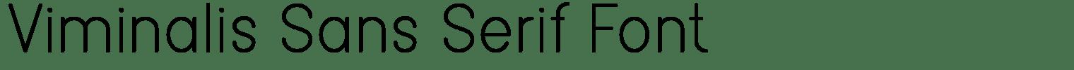 Viminalis Sans Serif Font