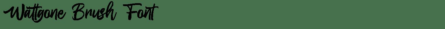 Wattgone Brush Font