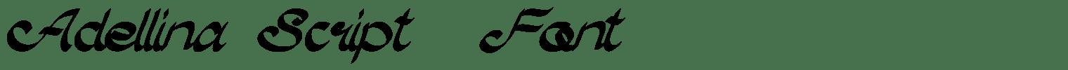 Adellina Script  Font