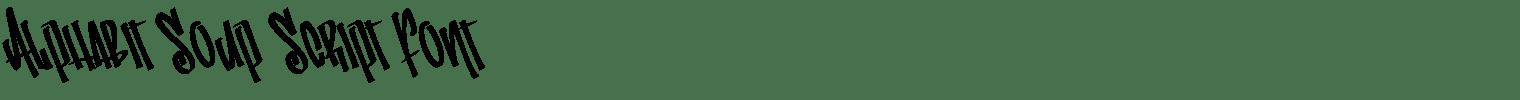 Alphabit Soup Script Font