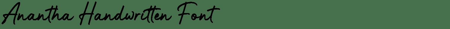 Anantha Handwritten Font