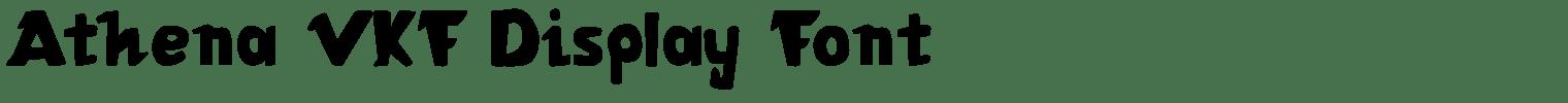 Athena VKF Display Font