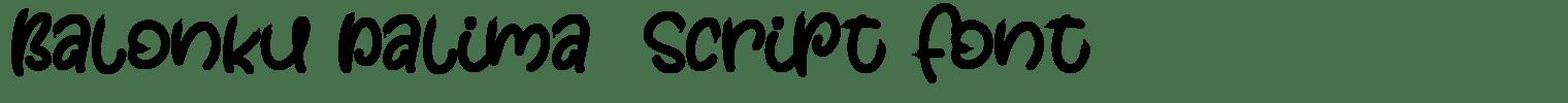Balonku Dalima  Script Font