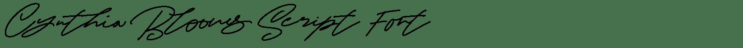 Cynthia Blooms Script Font