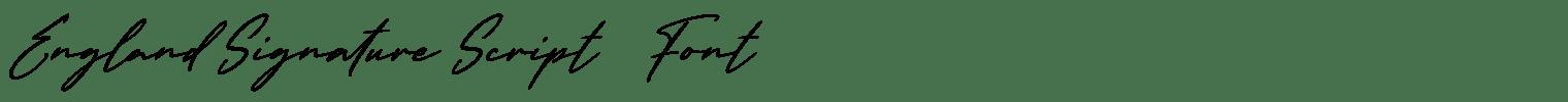 England Signature Script   Font