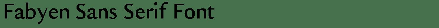 Fabyen Sans Serif Font