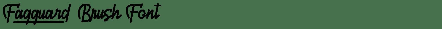 Fagguard Brush Font