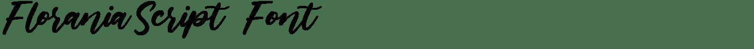 Florania Script   Font
