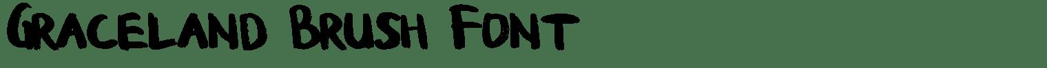 Graceland Brush Font