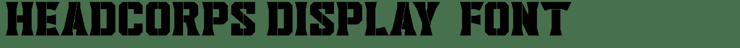 Headcorps Display  Font