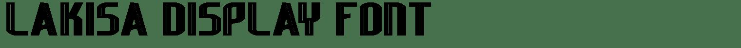 Lakisa Display Font