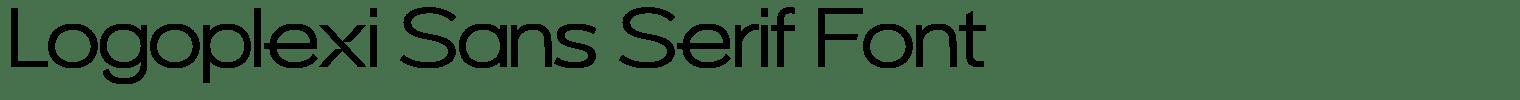 Logoplexi Sans Serif Font