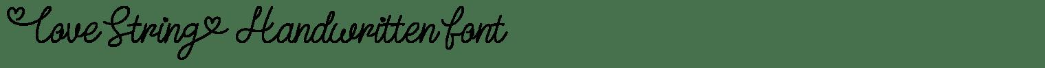 Love String Handwritten Font