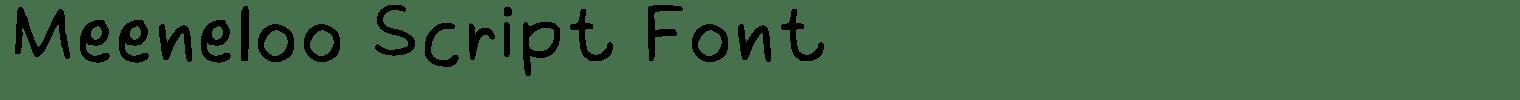 Meeneloo Script Font