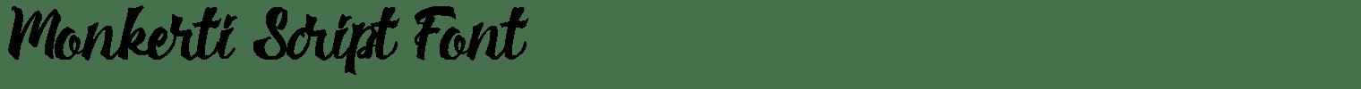 Monkerti Script Font