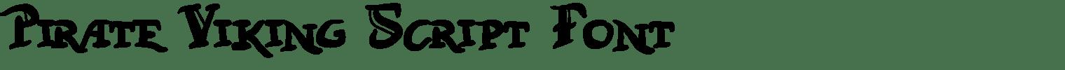 Pirate Viking Script Font