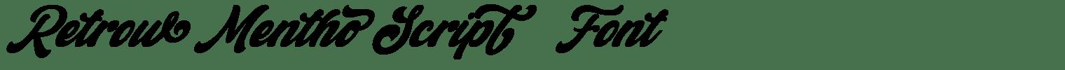 Retrow Mentho Script   Font
